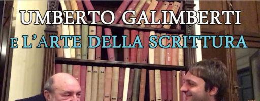UMBERTO GALIMBERTI E L'ARTE DELLA SCRITTURA | INTERVISTA INTEGRALE