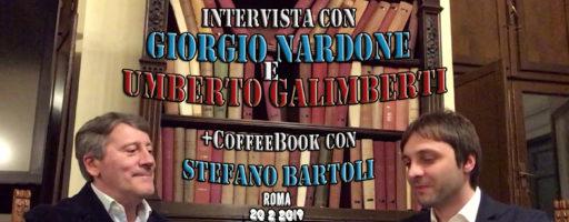 Intervista Giorgio Nardone e Umberto Galimberti, CoffeeBook con Stefano Bartoli. Roma | vLOP #2
