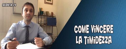 ⭕ COME VINCERE LA TIMIDEZZA | Seduta 24  – BENVENUTI NEL MIO STUDIO